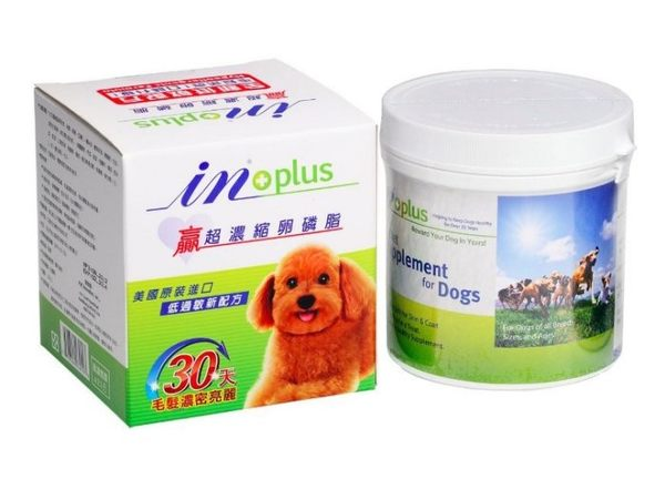 寵物家族*-即期良品下標5折IN-PLUS 贏超濃縮卵磷脂犬用迷你罐350g(效期20180630)