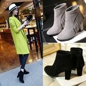 真皮短靴-舒適粗跟時尚優雅流蘇女靴子2色72a43【巴黎精品】
