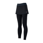 (A3)【MIZUNO 美津濃】女 下身 褲裙 緊身 瑜珈 健走 訓練 吸汗 快乾 彈性 黑 K2TB923109