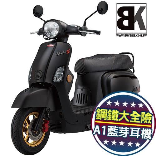 【買車抽鐵三角】J-BUBU 125 跑車特仕版 送藍芽耳機 鋼鐵大全險(J3-125BIA)PGO摩特動力