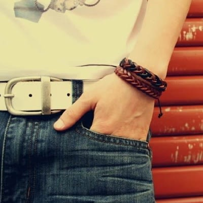 真皮編織手環-網狀設計生日情人節禮物男女手鍊3色73cs6【時尚巴黎】