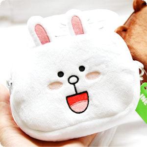 LINE正版授權 方形拉鍊收納包 化妝包鉛筆盒筆袋 熊大兔兔饅頭人 隨身包 小物品收納