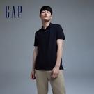 Gap男裝 Logo朱蒂網眼布POLO衫 897003-黑色