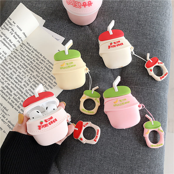 ? Airpods Pro 專用 1/2代 ??台灣發貨[4款 韓國草莓香蕉牛奶]藍芽耳機保護套 蘋果無線耳機保護