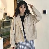 短款外套 港味復古韓版女生外套女秋季2021新款學生小個子短款長袖上衣百搭 韓國時尚週