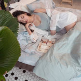 【預購】親密花語 K3 Kingsize床包與雙人兩用被四件組 100%精梳棉(60支) 台灣製 棉床本舖