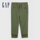 Gap男幼童 工裝風格鬆緊休閒長褲 618467-綠色