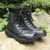 07作戰靴男超輕特種兵減震夏季高筒軍靴輕便透氣戰術靴作訓靴軍鞋