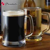 啤酒杯帶把扎啤杯玻璃冷飲杯500ml啤酒杯最後1天下殺89折