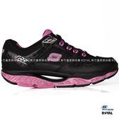 SKECHERS 新竹皇家 SRR 黑色/紫 網布 輕量 回彈力慢跑鞋 女款 NO.I8022