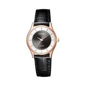 【Citizen星辰】PAIR對錶系列光動能時尚現代簡約腕錶-黑金款/EM0402-05E/台灣總代理公司貨享兩年保固