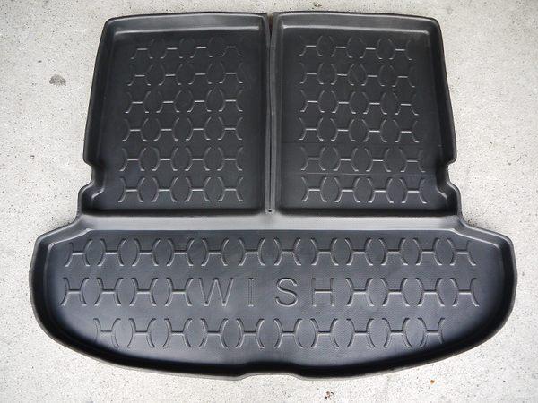 台灣製 加高型 豐田 04-09年 WISH 含第三排椅背 活動式 專用防水托盤 凹槽式 密合高 防水 後廂墊