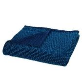 HOLA home 亮藍絲幾何交織毯