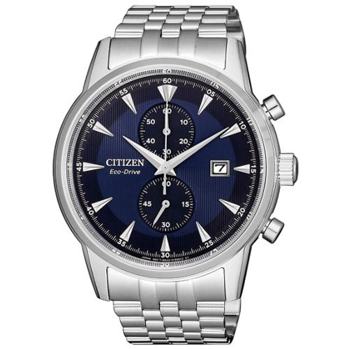CITIZEN 星辰 紳士時尚光動能兩眼腕錶/藍 CA7001-87L 光動能 Eco-Drive 熱賣中!