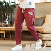 棉麻哈倫褲 中國風復古男褲子寬鬆亞麻褲唐裝燈籠褲胖子大碼夏TA6080【極致男人】