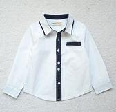 英倫風 男童紳士配色領白襯衫~EMMA商城