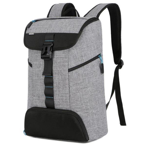 大容量防水後背包 男雙肩背包多功能筆電包《印象精品》e83