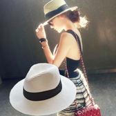 可折疊 遮陽帽 海邊度假沙灘帽 編織草帽【非凡上品】z309