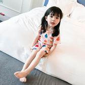 【618】好康鉅惠兒童睡衣2018女家居服夏童裝女寶寶夏空調服