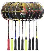 韋伯碳纖維超輕2支裝雙拍單打羽拍碳素羽毛球拍進攻型耐打全igo   晴光小語