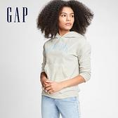 Gap女童 時尚舒適休閒連帽休閒上衣 664545-灰色