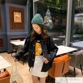 韓版開學季女裝學生百搭初秋牛仔外套女薄款寬鬆ins超火工裝上衣 韓慕精品