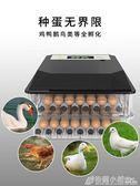 小雞鵝鸚鵡蛋可孵化箱孵蛋孵化器小型家用型水床孵化機全自動智慧ATF 格蘭小舖220V