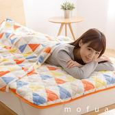 【Niceday】 mofua 防靜電舒膚柔柔毯 (三角旗(派對橙)) 鈴木太太