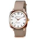 【萬年鐘錶】BRISTON  法國時尚 錶框  淡棕Nylon帶 17536-PRA-T-2-NT