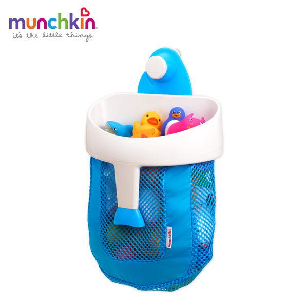 munchkin滿趣健-勺狀洗澡玩具收納袋-灰