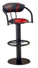 【南洋風休閒傢俱】吧台椅系列- 高吧台椅 黑紅皮 皮面餐椅 餐椅 造型餐椅(SB851-3)