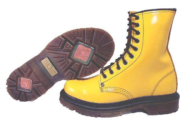 【鞋媽媽】[女]美國AE黃褐色馬丁鞋*鞋帶款*10孔短靴*ae077