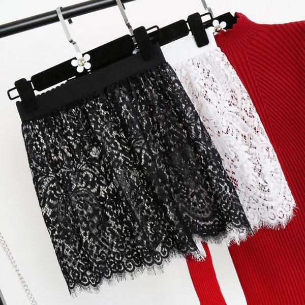 襯裙 蕾絲裙半身裙透明半裙短裙包臀單層打底裙襯裙罩裙631-265、631-266 巴黎春天