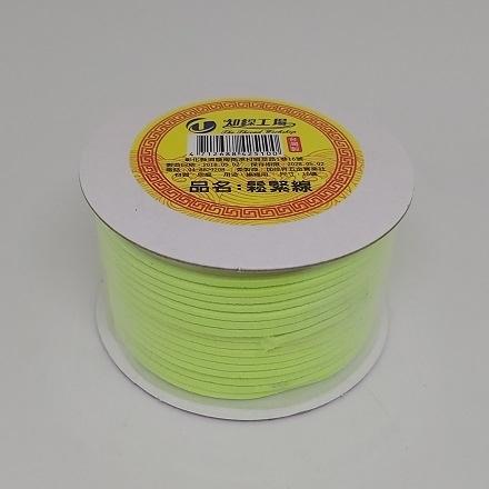 彩色素面鬆緊帶(綠色-長度約1456cm)/彈力繩/口罩繩/綁髮帶