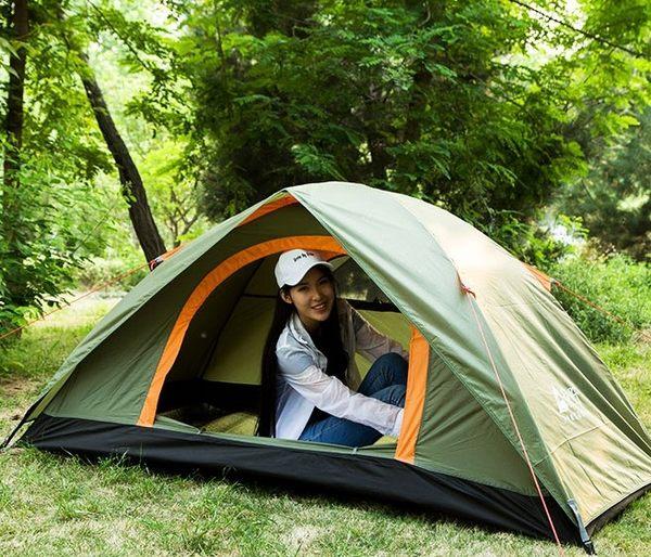 露營帳篷戶外釣魚旅行雙層單人帳篷防大雨 優樂居
