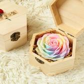 木盒單朵香皂玫瑰花DIY  花永不凋謝情人節女友男友母親節  生日閨蜜
