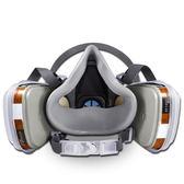 3m防毒面具噴漆專用6200防毒口罩防異味化工業氣體農藥活性炭面罩【全館85折任搶】