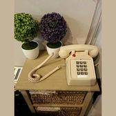 按鍵式仿古復古座機 古董電話機美式機械振鈴創意時尚話機 古梵希igo