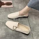 兩穿小皮鞋女簡約百搭平底工作女鞋2020春秋爆款英倫復古chic單鞋 喵小姐