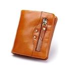皮夾(短夾)-純色歐美簡約個性機車包女零錢包4色73eb86[時尚巴黎]