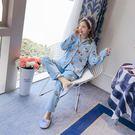 ★依咨戀小舖★珊瑚絨睡衣女士長袖秋冬款套裝加厚甜美可愛冬天法蘭絨家居服開衫