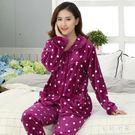 珊瑚絨睡衣女冬中年媽媽女裝法蘭絨金絲加絨可外穿家居服大碼套裝 ys8190『毛菇小象』
