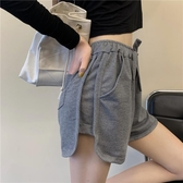 運動短褲 夏季2020新款寬鬆顯瘦熱褲女韓版百搭學生休閒褲居家外穿運動短褲 嬡孕哺