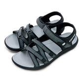 LIKA夢 LOTTO 輕量流行織帶運動涼鞋 流行輕時尚系列 黑灰 6170 女