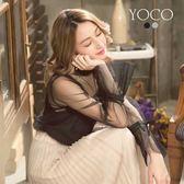 東京著衣【YOCO】優雅美人二件式透膚上衣-S.M.L(171926)