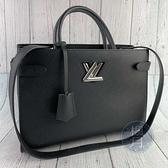 BRAND楓月 LOUIS VUITTON LV 路易威登 M54810 黑色 銀扣 TWIST TOTE 兩用包