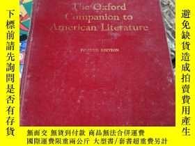 二手書博民逛書店the罕見oxford companion to american literature (fourth edit