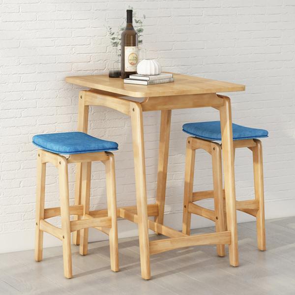簡約質感吧台桌椅組(一桌二椅)/4色/H&D東稻家居