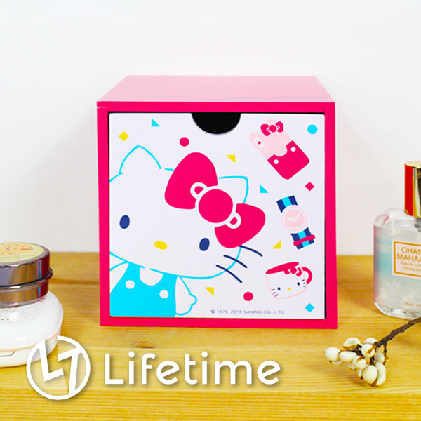 ﹝Kitty45週年積木盒﹞正版積木收納盒 單抽屜 筆筒 置物盒 凱蒂貓〖LifeTime一生流行館〗B01376