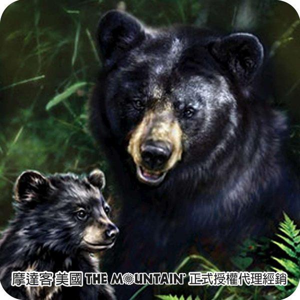 【摩達客】(預購)(男童/女童裝)美國進口The Mountain  黑熊之愛 純棉環保短袖T恤(10416045034a)